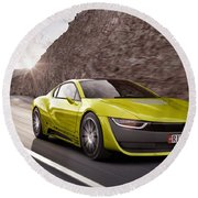 Rinspeed Etos Concept Self Driving Car Round Beach Towel