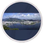 Rio De Janiero Aerial Round Beach Towel