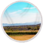Rio Grande Flood Plain Round Beach Towel