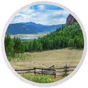 Rio Grande Headwaters Round Beach Towel