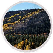 Rio Grande National Forest Round Beach Towel
