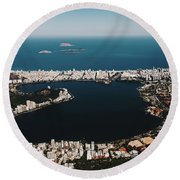 Rio In Contrast Round Beach Towel