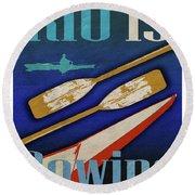 Rio Is Rowing Round Beach Towel