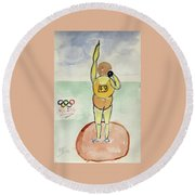 Rio2016 - Shot Putt Round Beach Towel