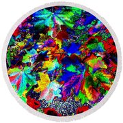Riot Of Color Round Beach Towel