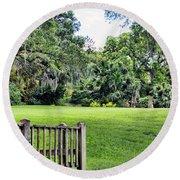 Rip Van Winkle Gardens Louisiana  Round Beach Towel