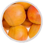 Ripe Apricots  Round Beach Towel