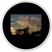 Ripple Clouds At Sunset Round Beach Towel