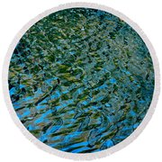 Ripple Reflections Round Beach Towel