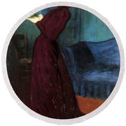 Ripple-ronai: Woman, 1892 Round Beach Towel