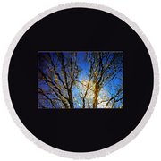 Ripple Tree Round Beach Towel