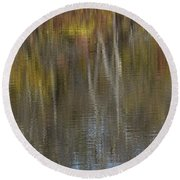 Rippled Reflection Round Beach Towel