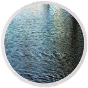 Ripples And Reflections Abstract Round Beach Towel