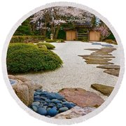 Ripples And Serenity Round Beach Towel