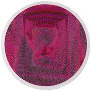 Ripples In Red Round Beach Towel
