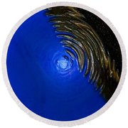 Ripples Of Time And Space Round Beach Towel