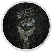 Rise Power Round Beach Towel