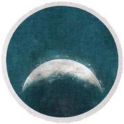 Rise Up Moon Round Beach Towel
