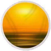 Rising Sun Round Beach Towel