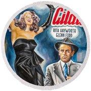 Rita Hayworth Gilda 1946 Round Beach Towel