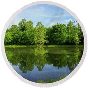Ritter Springs Pond Round Beach Towel