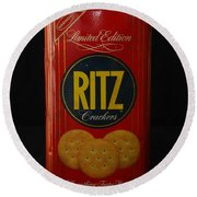 Ritz Crackers Round Beach Towel