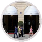 Ritz Hotel Paris Round Beach Towel