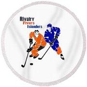 Rivalry Flyers Islanders Shirt Round Beach Towel