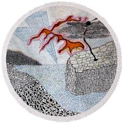 River And Water Round Beach Towel