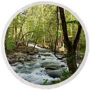 River At Greenbrier Round Beach Towel