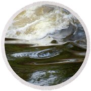 River Aux Sables, Ontario, May 2015 Round Beach Towel