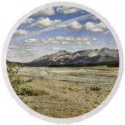 River Bed In Denali National Park Round Beach Towel