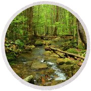 River Crossing On The Maryland Appalachian Trail Round Beach Towel