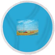 River Dee - Heswall Shore Round Beach Towel