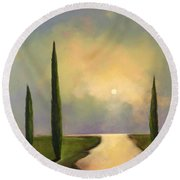 River Dreams Round Beach Towel