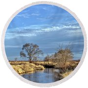 River Duck Morning 2 Round Beach Towel