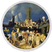 River Front Round Beach Towel
