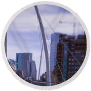 River Front Park Round Beach Towel