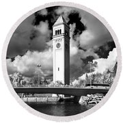 River Front Park Spokane Round Beach Towel
