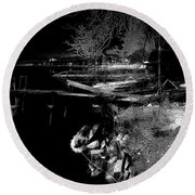 River In The Night... Round Beach Towel