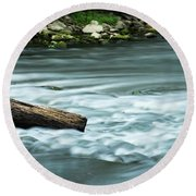 River Motion Round Beach Towel