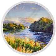 River Moy At Ballina Round Beach Towel