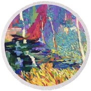 Creek Round Beach Towel