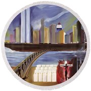 River Of Babylon  Round Beach Towel