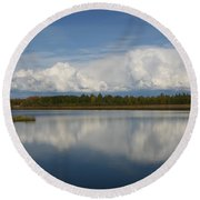 River Of Clouds Round Beach Towel