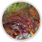 River Of Color Round Beach Towel