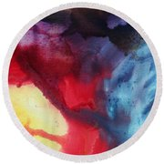 River Of Dreams 2 By Madart Round Beach Towel by Megan Duncanson
