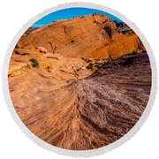 River Of Erosion Round Beach Towel
