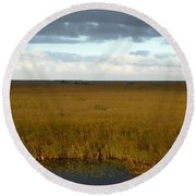 River Of Grass Round Beach Towel