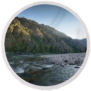 River Of No Return Round Beach Towel